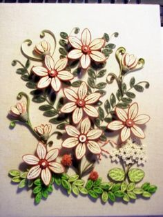 woodland flowers1 - by: Not Just Quilling