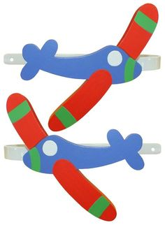 Airplane Curtain Tiebacks by DominiquesOnline on Etsy