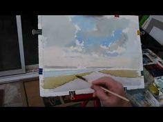 Watercoloring demo with Alan Owen