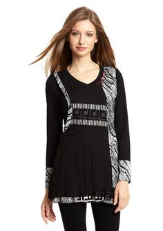 DZHAVAEL COUTURE Printed Long Sleeve Tunic $59.99