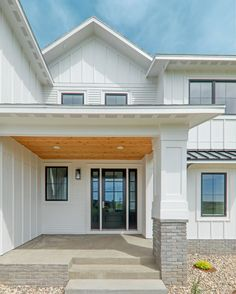 with light spilling in through it's sidelights and three-quarter length glass. Finished in whatever stain or paint color you like best... Exterior Doors, Entry Doors, Garage Doors, Front Entry, New Builds, Home Remodeling, Farmhouse Style, Layout, Architecture