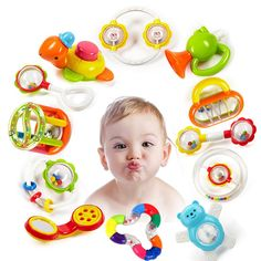 Us 152 Baby Rattles Toys Newborn Hand Bells Baby Toys 0 12 Months Teething Safe Development Infant Early Educational Baby Rattles Toys In Baby Educational Baby Toys, Baby Teethers, Baby Rattle, Baby Boutique, Boutique Clothing, Baby Online, Toy Store, Baby Care, Cool Toys