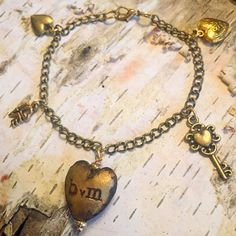 LOVE Charm Bracelet by Burnedinbrooklyn by BurnedinBrooklyn