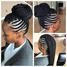 Swipe 👈🏾and adore with me 😍🙃. Feed-In/ Senegalese Mohawk Braided Mohawk Black Hair, Braided Mohawk Hairstyles, Mohawk Braid, Braided Hairstyles For Black Women, African Braids Hairstyles, Braids For Black Hair, Cornrows Updo, Short Mohawk, Curly Mohawk