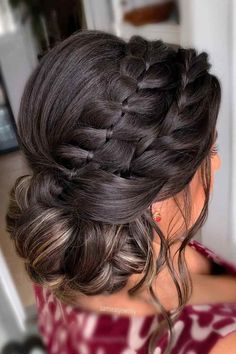 Crown Braided Updo ❤ Here are a lot of easy updos for long hair you can try at home. Updos don't have to be elaborate and complicated. And you don't have to go to a salon. #easyupdosforlonghair #lovehairstyles #hair #hairstyles #haircuts