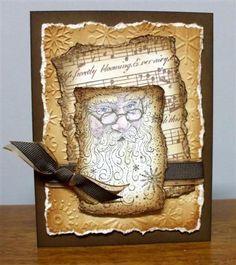 Rubber Stampede Santa Collage stamp