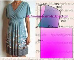Выкройка платья с запахом на лифе