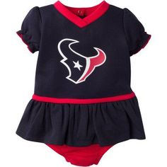NFL Houston Texans Baby Girls Mesh Dazzle Dress and Panty Set, 2-Piece, Infant Girl's, Size: 0 - 3 Months, Red