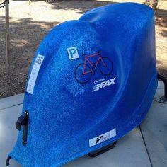 City of Fresno installs BikeLids at bus stops Bike Storage Pod, Storage Pods, Outdoor Bike Racks, Parking Solutions, Bike Components, Bike Parking, Commuter Bike, Bus Stop, Herschel Heritage Backpack