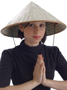 Halloween Bamboo Chinese Adult Hat