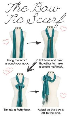 how to tie scarf pictures   How To: The Bow Tie Scarf from PBJ