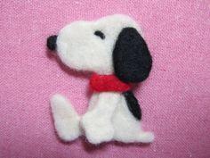 Needle Felted Snoopy Pin by HisYokeStudio on Etsy, $8.00