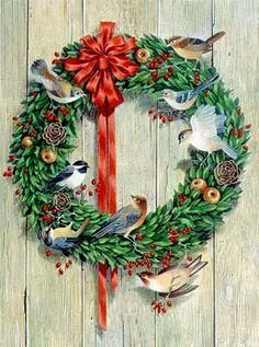 Wreath with Birds ~ by Charlotte Joan Sternberg