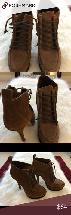 Booties Brown booties with a heel Shoes Ankle Boots & Booties