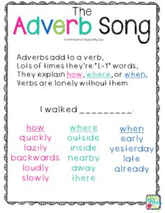 The Adverb Song