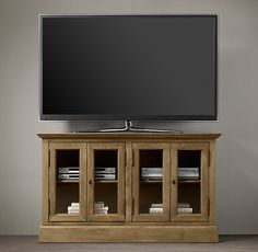 """54"""" French Casement Media Console Glass Doors. $1195"""