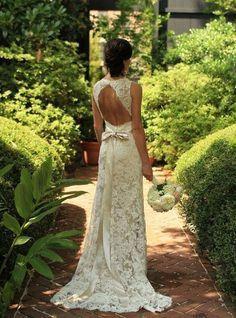 05 hochzeitskleider mit spitze rueckenfrei rueenfrei elegant schleife Brautkleider mit Spitze! – Klassisch, elegant und immer modern