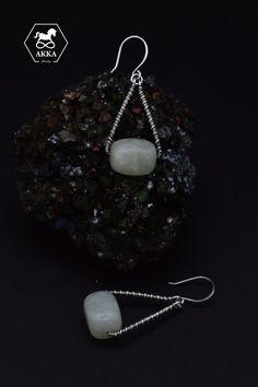 sterling silver 925 Jade Earrings, Silver Hoop Earrings, Etsy Earrings, Triangle Earrings, Silver Hoops, Simple Designs, Natural Gemstones, Crochet Earrings, Dangles