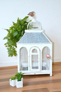 Cage à oiseaux, volière, vintage, déco mariage de la boutique atelierdelachoisille sur Etsy
