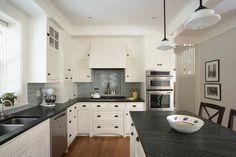 White Kitchen With Black Countertops Home Interior Pinterest