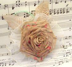 DIY  Ribbon Rose from Fabric Flower
