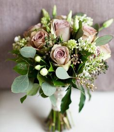 and the full bouquet is better for your lines, instead of the one rose, or few linear ones.(but when i find another bouquet of different flowers, I will delete this one and add the other one. White Wedding Bouquets, Bride Bouquets, Floral Bouquets, Floral Wedding, Wedding Colors, Bridesmaid Bouquets, Mauve Wedding, Bridesmaids, Dress Wedding