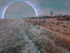 Shimmering Collages and Installations by Sara Shakeel Bring Bedazzled Glamour to Everyday Scenes Glitter Photography, Art Photography, Photography Editing, Colossal Art, Grid Design, Aesthetic Pictures, Trippy, Collage Art, City Photo