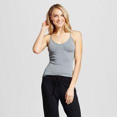 Women's Pajama Seamless Camisole Heather Gray Xxl, Heather Grey