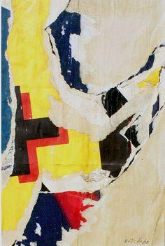 ROTELLA Mimmo (Catanzaro 1918 - Milano 2006) La stella di Rotella 1958 decollage on cardboard cm. 40.5 x 25.5