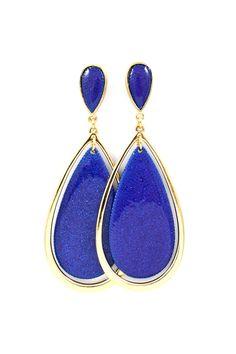 Kaitlyn Teardrop Earrings in Royal