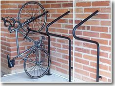 floor mount vertical bike rack