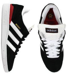 Adidas Busenitz Pro Shoes - Black/Running White/University Red $67.00 #adidas #busenitz