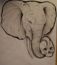 elephant drawing by johan887766.deviantart.com on @deviantART