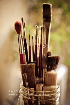 """For the Painter"" is a photo of paint brushes taken in an artist's studio in Napa, California. Available for purchase by clicking the link."