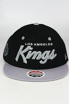 Zephyr Headliner 2 Tone LA Kings Snapback Hat Black - Grey - White 9629e0951a09