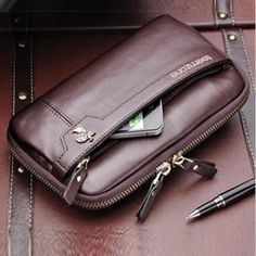 2012 NEW ARRIVAL EXCELLENT QUALITY Business clutch fashion leather men clutch bag 100% Hot sell !!!FREE SHIPPING-inClutches from Luggage  Bags on Aliexpress.com $57.00