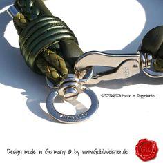 Hundehalsband Ledermix in Olive