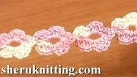 Crochet five petal cord video tutorial