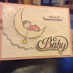 Hello baby Baby Shower Cards, Baby Cards, Decorated Letters, Welcome Baby Boys, Baby Bundles, Stamping Up Cards, Baby Time, Handmade Baby, Flower Cards