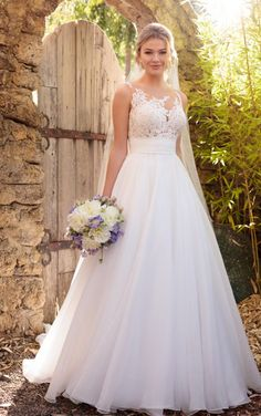 Wedding Dress Inspiration - The Ultimate Bride St. Louis, MO - D2183 Unique Wedding Dress Asymmetrical Neckline by Essense of Australia