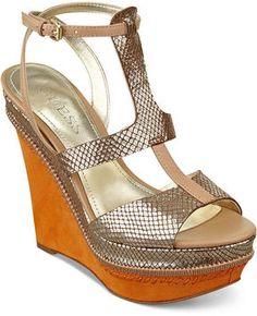 shopstyle.com: GUESS Women's Shoes, Diastol Platform Wedge Sandals
