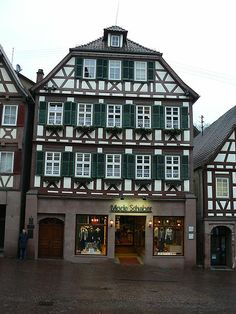 The house where Hermann Hesse was born on 2 July 1877 in the Black Forest town of Calw in Württemberg, Germany.  Photo taken 2007.
