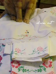 ~vintage linens and stain removal~