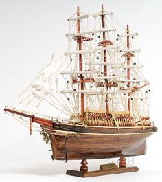"""CaptJimsCargo - The Cutty Sark Wooden Model Clipper Tall Ship 22"""" Sailboat, (http://www.captjimscargo.com/model-tall-ships/clipper-ships/the-cutty-sark-wooden-model-clipper-tall-ship-22-sailboat/) Nice detail for a low priced tall ship model."""