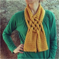 celtic knot looped scarf