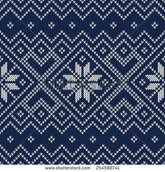Knitted Sweater Design. Vector Seamless Pattern - stock vector