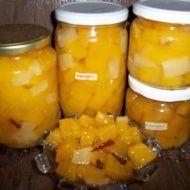 Dýňový kompot s ananasovou příchutí Preserves, Pickles, Cantaloupe, Cucumber, Pesto, Frozen, Food And Drink, Yummy Food, Cheese