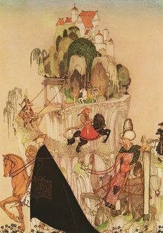Kay Nielsen. The black cloak dominates, leads you out of the picture.