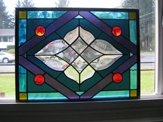 Victoria stained glass window by CKGLASSWORKS on Etsy