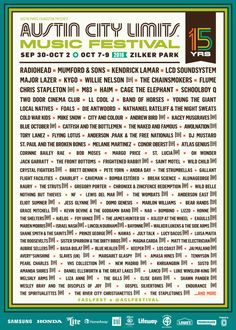 Austin City Limits Celebrates Its 15th Anniversary With Impressive Lineup #thatdope #sneakers #luxury #dope #fashion #trending